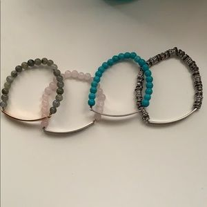 4 beaded engravable Keep bracelets